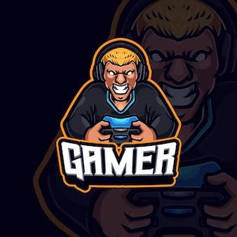 Création de logo de jeu esport mascotte de joueur