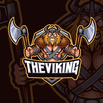 Création de logo de jeu esport mascotte viking