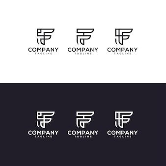 Création de logo de jeu de lettre f