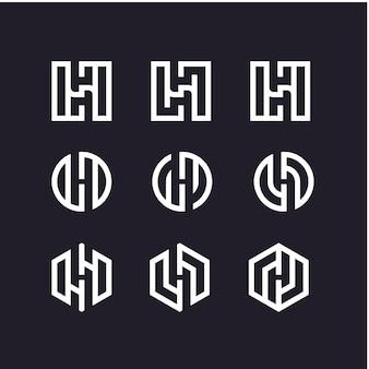 Création de logo de jeu de lettre h