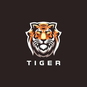 Création de logo de jeu de sport tiger