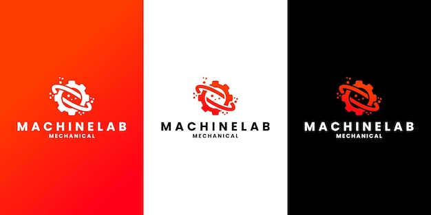 Création de logo de laboratoire de machines pour atelier, mécanicien, laboratoire