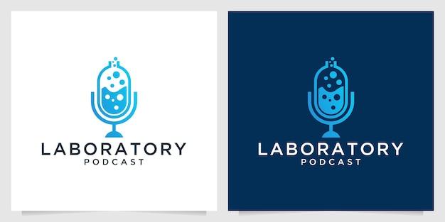Création de logo de laboratoire de podcast