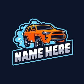Création de logo de lavage de voiture