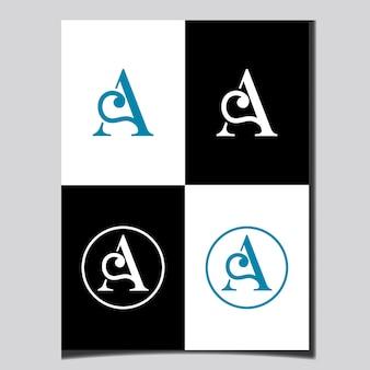 Création de logo de lettre ab initiale vector templet