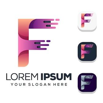 Création de logo lettre f isolée sur blanc