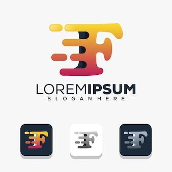 Création de logo lettre f moderne