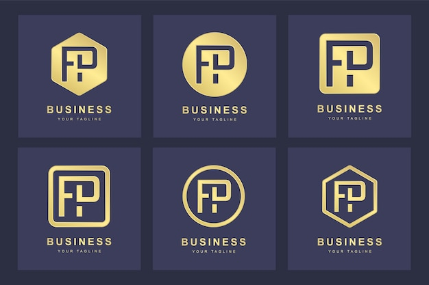 Création de logo de lettre fp initiale.