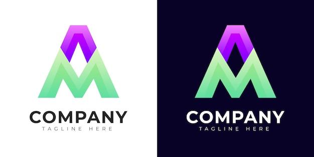 Création de logo de lettre initiale ma et suis moderne
