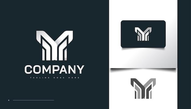 Création de logo lettre m abstraite et minimaliste dans un style papier. modèle de conception de logo m