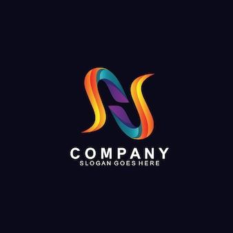 Création de logo lettre n colorée et abstraite