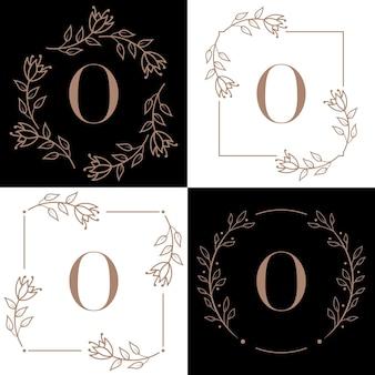 Création de logo lettre o avec élément feuille d'orchidée