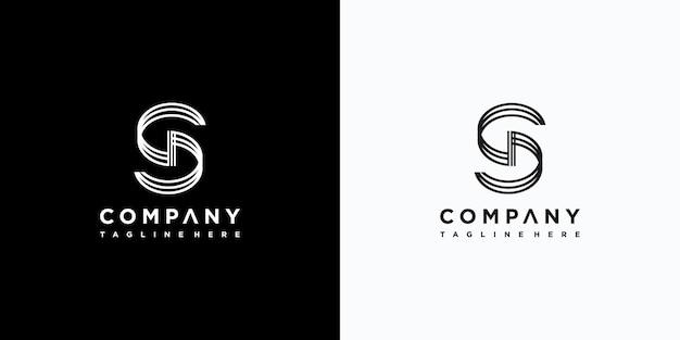 Création de logo de lettre s vecteur premium