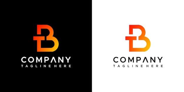 Création de logo de lettre tb