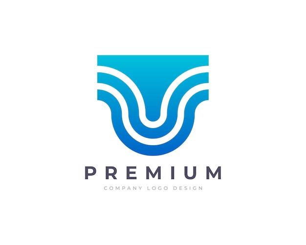 Création de logo lettre u plat minimaliste