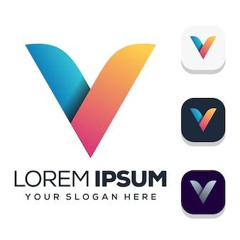 Création de logo lettre v