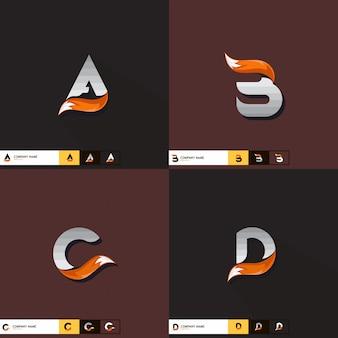 Création de logo lettre, vecteur de queue de renard