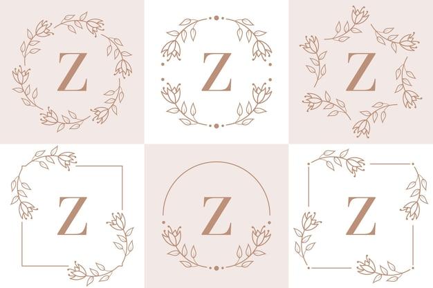 Création de logo lettre z avec élément feuille d'orchidée