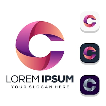 Création de logo lettre c