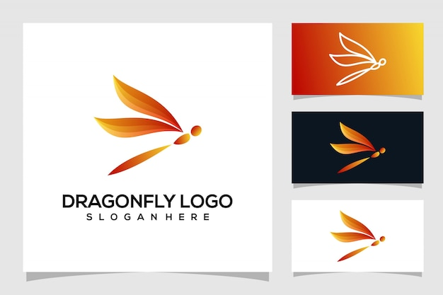 Création de logo de libellule