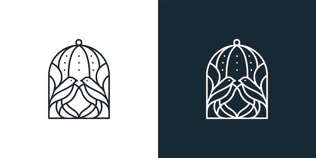 Création de logo en ligne mono bird cage