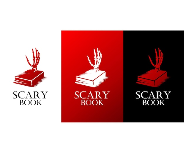 Création de logo de livre effrayant