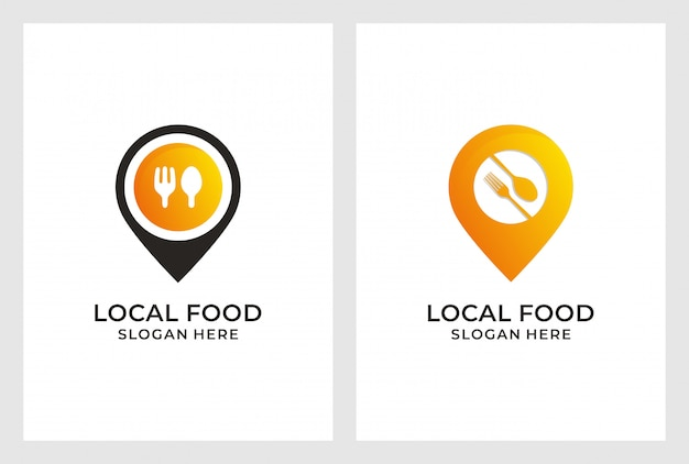 Création de logo de localisation de nourriture