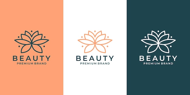 Création de logo de lotus de fleur de luxe pour salon, spa, mode, hôtel, etc.