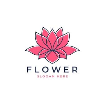 Création de logo de lotus rose