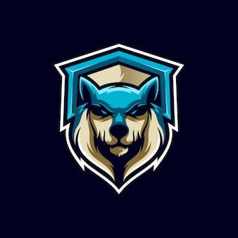 Création de logo de loup