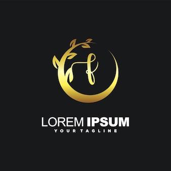 Création de logo de luxe initial génial f