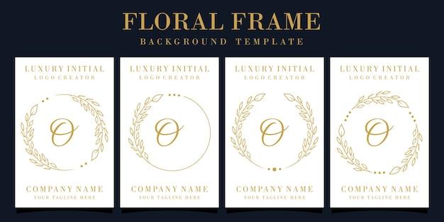 Création de logo de luxe lettre o avec cadre floral