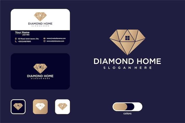 Création de logo de luxe et de maison et carte de visite