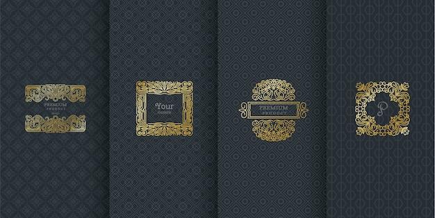 Création de logo de luxe pour l'emballage