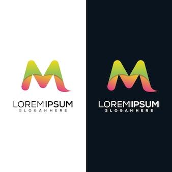 Création de logo m initiale moderne