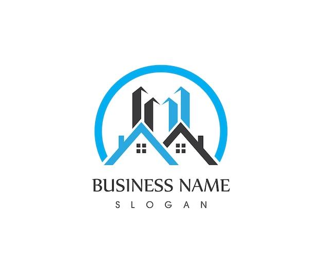 Création de logo de maison de bâtiment immobilier