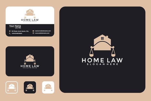 Création de logo de maison de droit et carte de visite