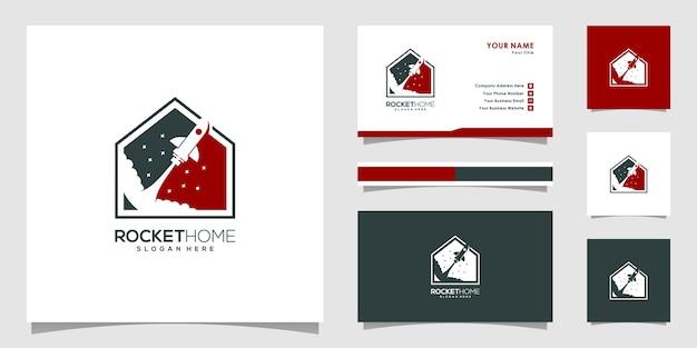 Création de logo de maison de fusée