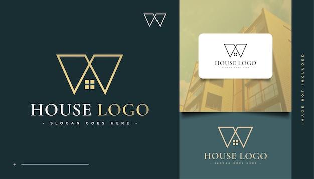 Création de logo de maison avec la lettre m concept. création de logo de construction, d'architecture ou de bâtiment