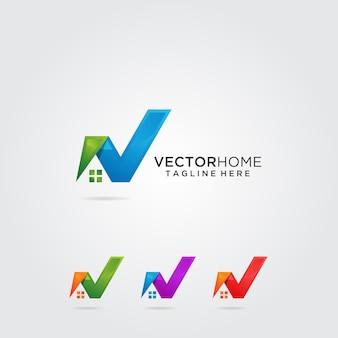 Création de logo maison lettre v