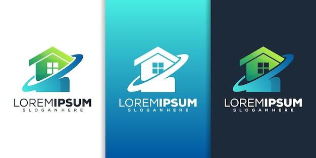 Création de logo de maison moderne