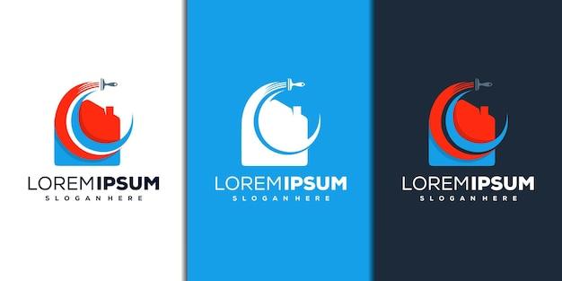 Création de logo de maison et de peinture moderne