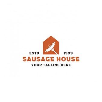 Création de logo de maison de saucisse créative