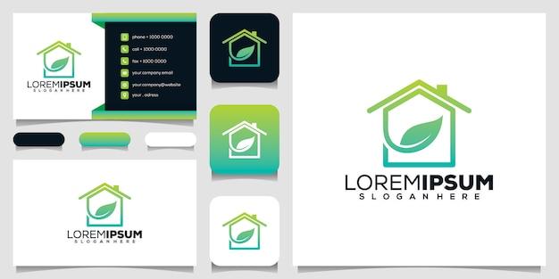 Création de logo de maison verte