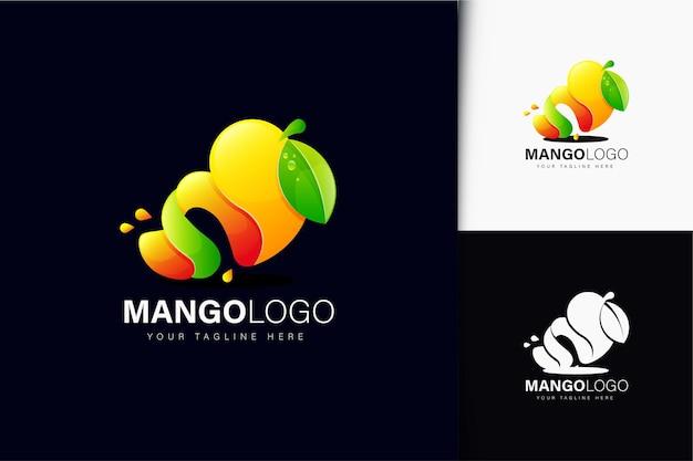 Création de logo de mangue avec dégradé