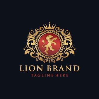 Création de logo de marque lion héraldique