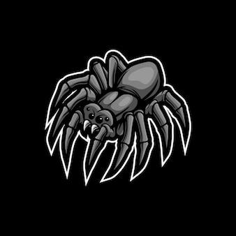 Création de logo de mascotte d'araignée