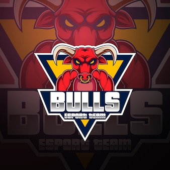 Création de logo de mascotte bulls esport