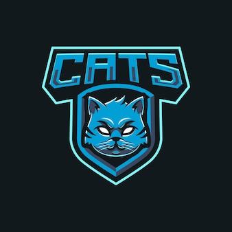 Création de logo de mascotte de chats
