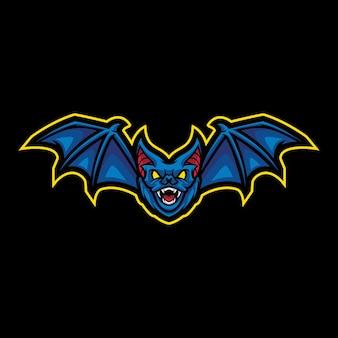 Création de logo mascotte chauve-souris
